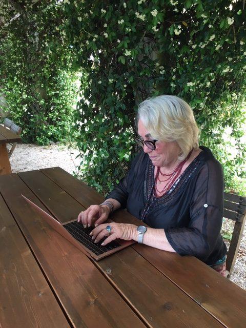 Marcia at the Corfu Writing Retreat