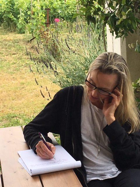 Erika at the Corfu Writing Retreat
